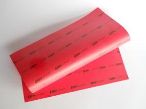 Membranstoff orig. effbe rot 0,38mm DIN A4 Bogen
